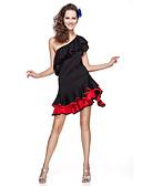 hesapli Caz Dansı Giysileri-Latin Dansı Kıyafetler Kadın's Eğitim Viskoz Fırfırlı Kısa Kol Doğal