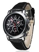 preiswerte Damenuhren-Herrn Armbanduhr Quartz Armbanduhren für den Alltag PU Band Analog Charme Schwarz / Braun - Weiß Schwarz