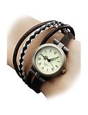 cheap Quartz Watches-Women's Bracelet Watch Wrist Watch Japanese Quartz Casual Watch Genuine Leather Band Bohemian Fashion Multi-Colored - Black Brown One Year Battery Life / SSUO SR626SW