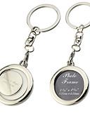 preiswerte Unterröcke für Hochzeitskleider-Personalisierte Photo Frame Round Key Ring (Satz von 6)