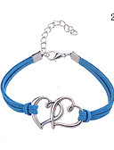 cheap Men's Ties & Bow Ties-Women's - Leather Round Bangles Bracelet Red / Blue / Pink For Party / Casual / Outdoor