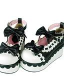 preiswerte Tanzzubehör-Schuhe Niedlich Shiro& Kuro Handgemacht Keilabsatz Schuhe Schleife 7 CM Schwarz Rot Für PU - Leder/Polyurethan Leder Polyurethan Leder