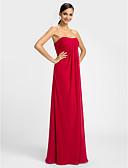 hesapli Nedime Elbiseleri-Sütun Kalp Yaka Yere Kadar Şifon Haç ile Elbise tarafından LAN TING BRIDE®
