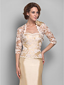 cheap Women's Wool & Wool Blend Coats-Lace Wedding / Party Evening Women's Wrap With Lace Shrugs