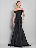 cheap Evening Dresses-Mermaid / Trumpet Off Shoulder Sweep / Brush Train Taffeta Formal Evening Dress with Sash / Ribbon / Ruched by TS Couture®