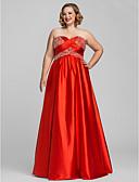 Χαμηλού Κόστους Βραδινά Φορέματα-Γραμμή Α Καρδιά Μακρύ Σαρμέζ Ανοικτή Πλάτη Κοκτέιλ Πάρτι / Επίσημο Βραδινό Φόρεμα με Χάντρες / Πούλιες με TS Couture®