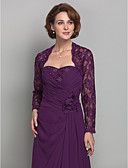 cheap Junior Bridesmaid Dresses-Long Sleeve Lace Wedding / Party Evening Women's Wrap With Beading / Lace Shrugs