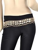 זול טישרטים לגופיות לגברים-ריקוד בטן חגורה בגדי ריקוד נשים הדרכה מתכת מטבעות חגורה / אולם נשפים