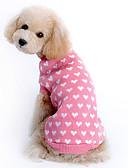 رخيصةأون ساعات رياضة-البلوزات ملابس الكلاب قلب زهري الصوفية كوستيوم للحيوانات الأليفة الدفء