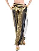 ieftine Ținută Dans din Buric-Dans din Buric Pantaloni Pentru femei Performanță Șifon Paiete Pantaloni