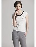 baratos Tops de Mulher-Mulheres Camiseta Fofo Doce Sólido