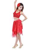 ieftine Ținută Dans din Buric-Dans din Buric Fustă Pentru femei Antrenament Poliester Paiete Fustă / Performanță / Sală de bal