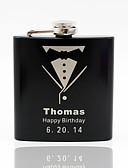 olcso Esküvői ajándékok-Rozsdamentes acél Flaska Vőlegény Násznagy Pár Szülők Esküvő Évforduló Születésnap Házavató Gratulálok fokozatokra osztás Köszönöm Üzleti