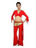 hesapli Göbek Dansı Giysileri-Göbek Dansı Üstler Kadın's Eğitim Merserize Pamuk Fırfırlı Yarım Kol / Performans / Balo Salonu
