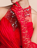 cheap Women's Dresses-Lace / Polyester Opera Length Glove Classical / Bridal Gloves / Party / Evening Gloves With Solid
