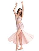 povoljno Plesna oprema-Trbušni ples Suknja Žene Seksi blagdanski kostimi Spandex Perlica / Šljokice / Prednji izrez Suknja
