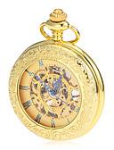 abordables Relojes de Bolsillo-Hombre Reloj de Bolsillo / El reloj mecánico Japonés Huecograbado Aleación Banda Lujo / Vintage Dorado / Cuerda Manual / Dos año