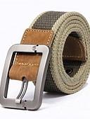 abordables Cinturones a la Moda-Hombre Cinturón Ancho - Chic de Calle A Rayas