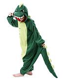 preiswerte Retro-Königin-Erwachsene Kigurumi-Pyjamas Dinosaurier Pyjamas-Einteiler Polar-Fleece Dunkelgrün Cosplay Für Herren und Damen Tiernachtwäsche Karikatur Halloween Fest / Feiertage