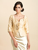 cheap Vintage Dresses-Taffeta Wedding / Party Evening / Casual Wedding  Wraps With Flower Coats / Jackets