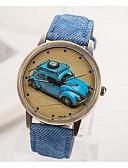 preiswerte Modische Uhren-Damen Armbanduhr Quartz Armbanduhren für den Alltag PU Band Analog Retro Schwarz - Braun Grün Blau