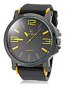 cheap Quartz Watches-V6 Men's Wrist Watch Hot Sale Silicone Band Charm Black / Two Years / Mitsubishi LR626