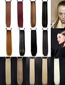 hesapli Nedime Elbiseleri-At Kuyrukları Saç parça Düz Klasik Sentetik Saç 24 inç Uzun Ek saç Günlük