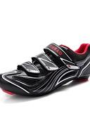 cheap Women's Coats & Trench Coats-Tiebao® Road Bike Shoes Nylon, Fiberglass, Air-flow vents, Non-Slip tread / Carbon Fiber Breathable, Anti-Shake / Damping, Ventilation Cycling Black / Red Men's / Breathable Mesh / Hook and Loop