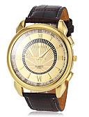 baratos Relógio Elegante-Homens Relógio de Pulso Relógio Casual PU Banda Amuleto / Relógio Elegante Marrom