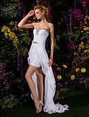 preiswerte Hochzeitskleider-Eng anliegend Sweetheart Asymmetrisch Chiffon / Spitze Maßgeschneiderte Brautkleider mit Kristall / Schärpe / Band durch LAN TING BRIDE®