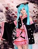 hesapli Göbek Dansı Giysileri-Esinlenen Vocaloid Hatsune Miku Anime Cosplay Kostümleri Cosplay Takımları Kimono Kırk Yama Uzun Kollu Etek Başlık Kollar Kemer Fiyonk