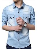 ieftine Maieu & Tricouri Bărbați-Bărbați Guler Clasic - Mărime Plus Size Cămașă Bumbac Mată / Manșon Lung / Zvelt