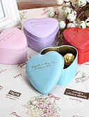 cheap Baby Girls' Clothing Sets-Round Square Heart Metal Favor Holder with Printing Favor Boxes Favor Tins and Pails - 24