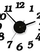 halpa Tyttöjen mekot-dyylinen tarrakiinnitys moderni seinä numeron huone sisustus kello