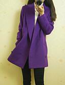 olcso Női felsőruházat-Elegáns és luxus Női Kabát-Egyszínű,Klasszikus stílus
