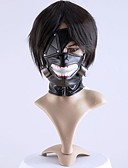 tanie Akcesoria do toalet-Maska Zainspirowany przez Tokyo Ghoul Cosplay Anime Akcesoria do Cosplay Maska Męskie / Damskie Kostiumy na Halloween