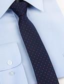 abordables Corbatas y Pajaritas para Hombre-Hombre Estampado Corbata - Fiesta / Trabajo / Básico A Lunares