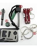 baratos Relógio Esportivo-Alicate / Iniciador de Fogos / Survival Whistle Emergência, Sobrevivência para Equitação / Alpinismo / Campismo - Metal