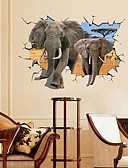 cheap Women's Pants-Landscape Animals Still Life Romance Fashion Fantasy 3D Wall Stickers 3D Wall Stickers Decorative Wall Stickers, Paper Home Decoration