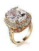 preiswerte Brautjungfernkleider-Damen Kristall Statement-Ring - Krystall, vergoldet, Diamantimitate Luxus 7 / 8 / 9 Golden Für Hochzeit Party Alltag