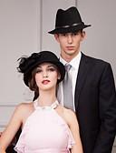 preiswerte Hochzeitsschleier-Wolle Hüte mit Blume 1pc Normal Kopfschmuck