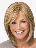 preiswerte Hochzeitskleider-Synthetische Perücken Glatt Blond Synthetische Haare 12 Zoll Blond Perücke Damen Kurz Braun