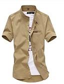 povoljno Muške košulje-Majica Muškarci Ležerno / za svaki dan / Plus veličine Pamuk Jednobojni / Kratkih rukava