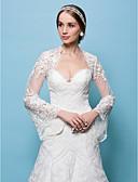 رخيصةأون طرحات الزفاف-دانتيل زفاف / حفلة / سهرة الأغطية الزفاف مع السترات الفضفاضة