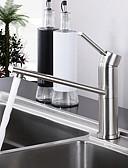 preiswerte Hochzeit Schals-Armatur für die Küche - Ein Loch Gebürstet Bar / Prep deckenmontiert Moderne / Einhand Ein Loch