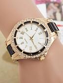 お買い得  ファッションウォッチ-女性用 クォーツ ダミー ダイアモンド 腕時計 模造ダイヤモンド 金属 バンド Elegant ファッション ブラック 白 ブルー レッド