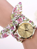 preiswerte Armband Uhr-Damen Uhr Armband-Uhr Armbanduhr Quartz Stoff Weiß / Rot Armbanduhren für den Alltag damas Blume Modisch / Ein Jahr / Ein Jahr / Jinli 377
