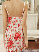 baratos Camisolas e Pijamas Femininos-Mulheres Tamanhos Grandes Super Sexy Corpete Roupa de Noite Floral