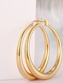 cheap Quartz Watches-Women's Hoop Earrings - Gold Plated, Rose Gold Plated Fashion Screen Color / Rose Gold For