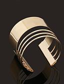 billige Kjoler til brudens mor-Dame Mansjettarmbånd - Gullbelagt Personalisert, Vintage, Enkel Stil Armbånd Gylden Til Julegaver Bryllup Fest